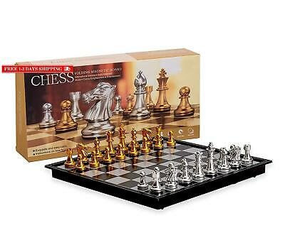 Magnetic Travel Chess Set With Board That Becomes A Storage Compartment – Grea