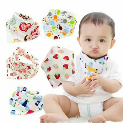 Cute Triangle Boy Baby Kids Girls Bandana Bibs Saliva Towel Feeding Head Scarf