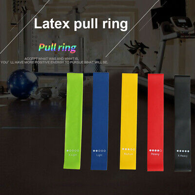 Resistance Elastic Band Natural Latex Loop Rubber Fitness Training Stretch Belt