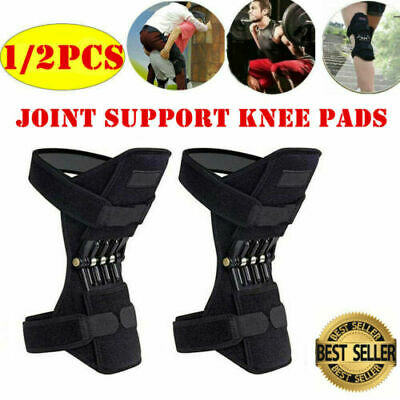 2Pcs Power Knee Stabilizer Pads Powerful Rebound Spring Force Support Knee Pad&