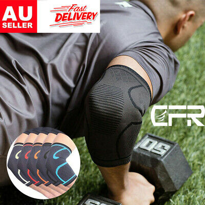 CFR Compression Elbow Brace Arm Sleeve Support Elastic Breathable Pain Relief AU
