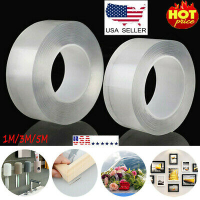 Magic Double-sided Tape Traceless Washable Adhesive Tape Nano Gel Invisible USA