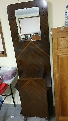 Art Deco Hall Stand With Mirror