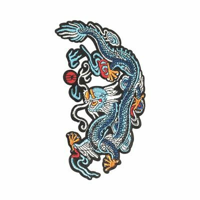 Tribal Tattoo Dragon Biker Embroidered Sew//Iron on Patch Badge#1068