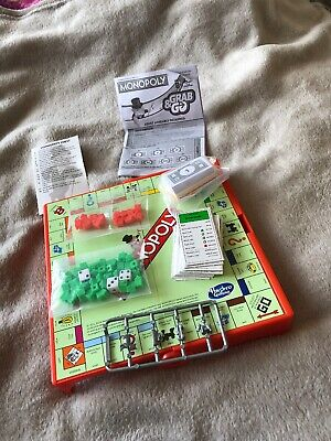 Travel Monopoly Board Game. Never Played... Without Box. Grab And Go.