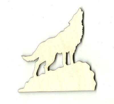 Howling Wolf Coyote - Laser Cut Wood Shape ANML8