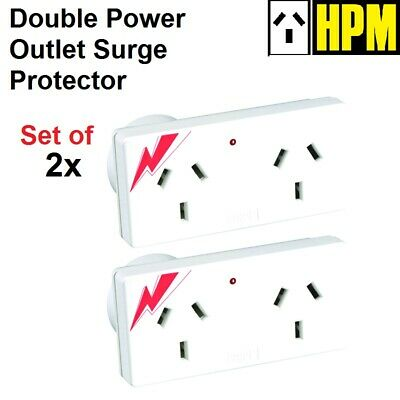 2x HPM Surge Protector Double Power Point Adapter Protection AU Plug Outlet