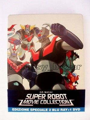 Super Robot Movie Collection 2 Blu-Ray + Dvd - Mazinga Z - Goldrake - Getter