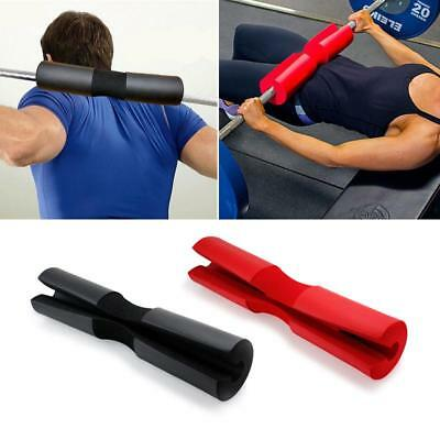 WEIGHTLIFTING BARBELL PAD Cover Padded Olympic Standard Bar Black ...