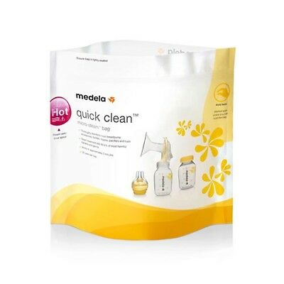 Medela Quick Clean Micro-steam Bags (Box of 5), # 87024 (3 pack)