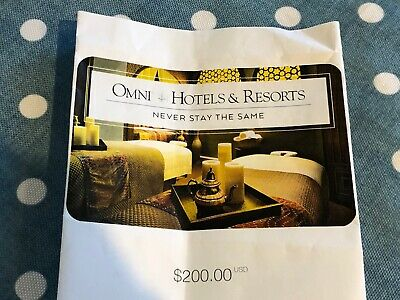 Omni Resorts Gift Certificate / Gift Card - $200 value
