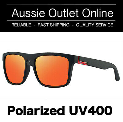 Retro Polarized Sunglasses UV400 RED - FREE Hard Case - Aussie Outlet Online