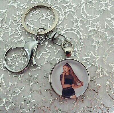 Ariana Grande Singer Photo Key Ring Lobster Claw & Swivel Chain With Gift Box
