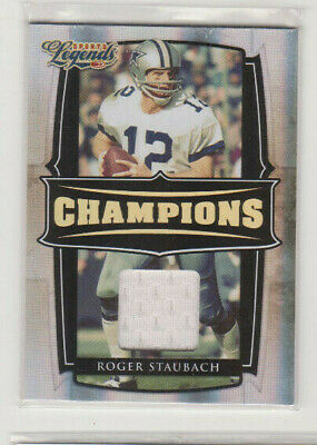 2008 Roger Staubach Donruss Sports Legends Champions Game Used Card 96/250 NMMT