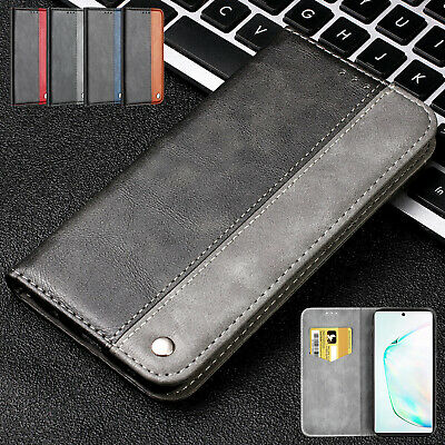 For Samsung Galaxy Note 10 Plus Flip Leather Card Pocket Wallet Phone Case Cover