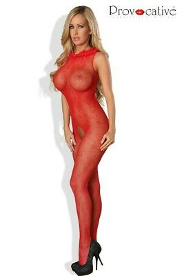 Bodystocking Ouvert Rouge Provocative