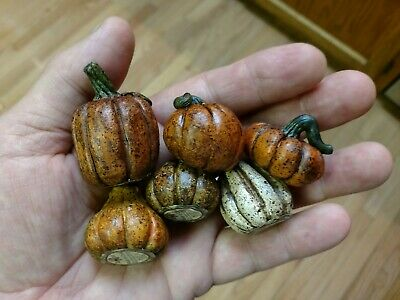 6 Salem Collection Fall Resin Hand Painted  Decorations