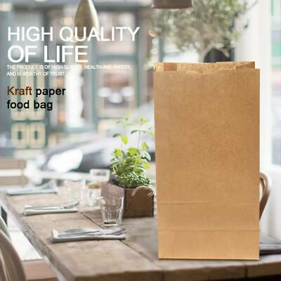 10Pcs Kraft Paper Bags Gift Food Bread Vintage Brown Paper Bag Candy Party Bags