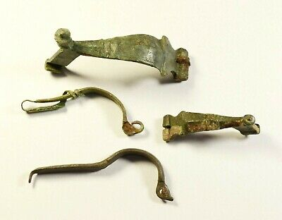 Great Lot Of 4 Mixed Ancient Fibulas - Genuine Condition / Rare Artifacts
