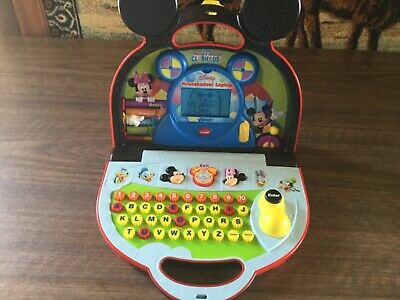 DISNEY MICKEY MOUSE CLUBHOUSE LAPTOP COMPUTER, FUN WITH MICKEY AND FRIENDS,Works