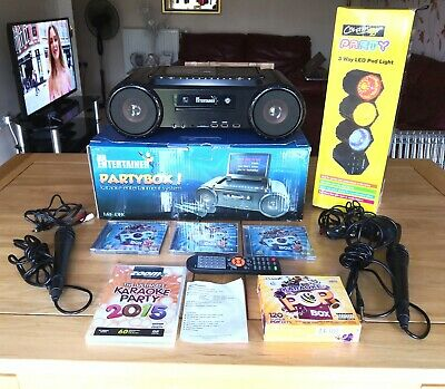 Mr Entertainment Partybox Karaoke Music System,includes 2 Microphone's & more.