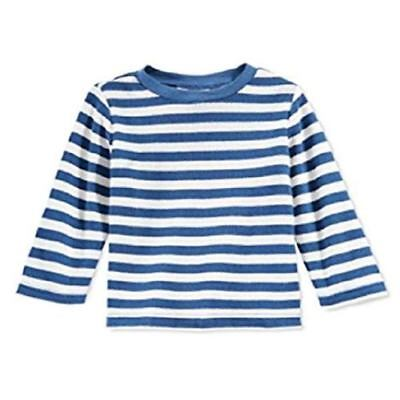 First Impressions Baby Boy's Long-sleeve Blue Striped Thermal T-Shirt 12 Months