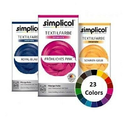 SIMPLICOL  'INTENSIVE' Textile Dye Colors - 23 Shades  *GERMANY*