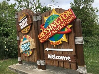 Chessington World Of Adventure Tickets x 2 valid 12th September 2019 only