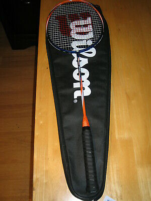Wilson Recon 200 Badminton Racket With Case Very Good Condition £1 & No Reserve!