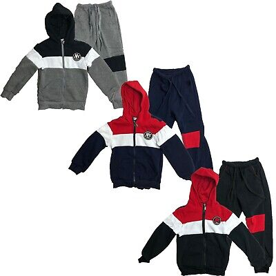 Boys Kids Tracksuit Hoodie Joggers Fleece Jogging Bottoms New York