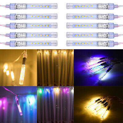 LED Meteor Shower Fairy Icicle String Lights Waterproof Xmas Party Pendant Light