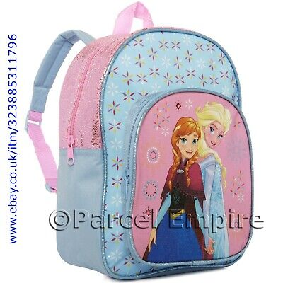 Official DISNEY FROZEN BACKPACK Girls School Bag Travel Holiday World Elsa Anna