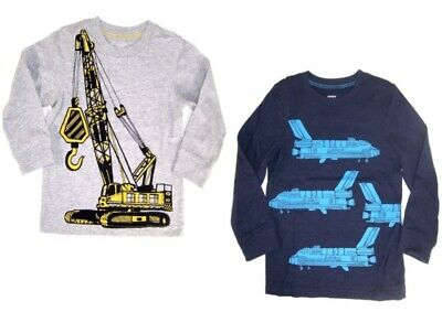 Carter's Toddler Boys Long Sleeve T-Shirt NWT  Crane or Shuttle  Size 2T or 4T