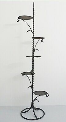 Vintage 70s Blumenetagere Flower Stand Wrought Iron Hans Kögl Age Z