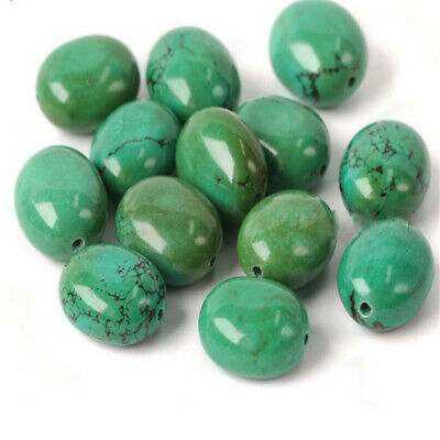1pcs Yellow Green Turquoise Oval BeadsLoose Bead Wholesale 15 inches