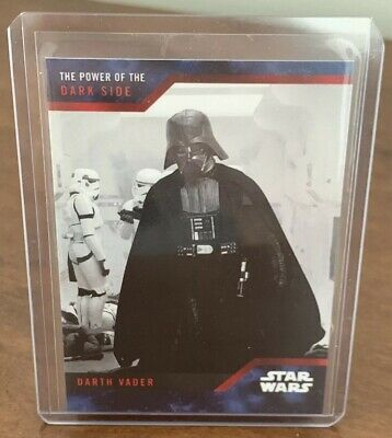 SDCC 2019 Topps STAR WARS Power Of Dark Side RARE Blue Parallel DARTH VADER #1A