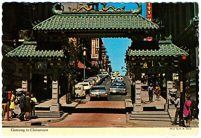 Gateway to Chinatown San Francisco California Postcard