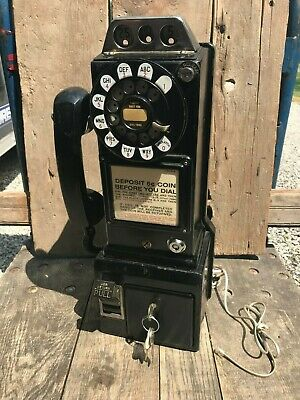 Vintage 1961 Western Electric Payphone with Keys
