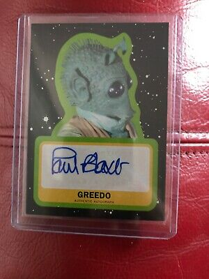 2017 Star Wars Journey to The Last Jedi Auto Paul Blake as Greedo