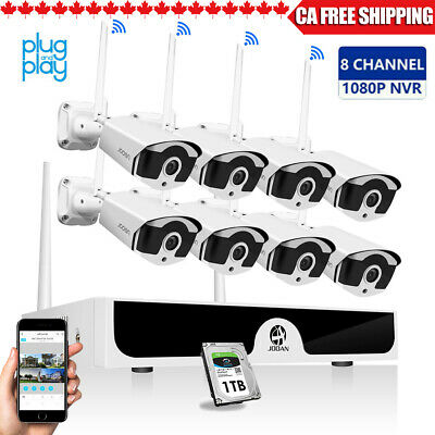 JOOAN 8CH 1080P Wireless HDMI NVR Outdoor WiFi Camera  Home Security System