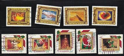 Canada 2000 Picture Postage & Christmas Picture Postage Stamps - 9 Used