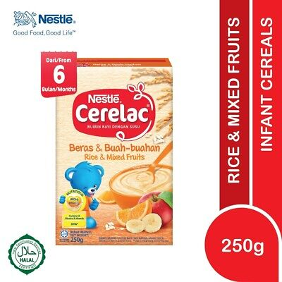 Nestlé CERELAC Baby Cereal Rice & Mixed Fruits 250g HALAL FREE SHIPPING