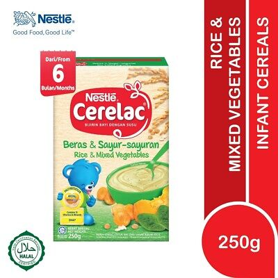 Nestlé CERELAC Baby Cereal Rice & Mixed Vegetables 250g HALAL FREE SHIPPING