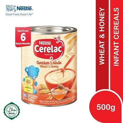 Nestlé CERELAC Baby Cereal Wheat & Honey 500g HALAL FREE SHIPPING
