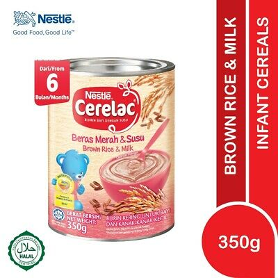 Nestlé CERELAC Baby Cereal Brown Rice & Milk 350g HALAL FREE SHIPPING