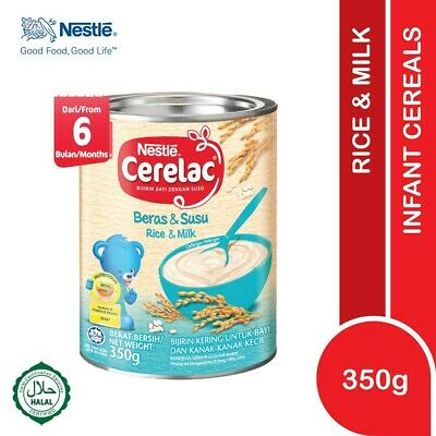 Nestlé CERELAC Baby Cereal Rice & Milk 350g HALAL FREE SHIPPING