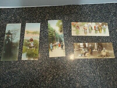 Vintage Japanese Tinted Photo Post Card-Christmas/New Year Gift Tag Early 1900's