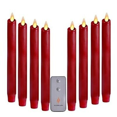 Luminara Battery Operated Taper LED Candles Flickering Flameless with Timer 8''