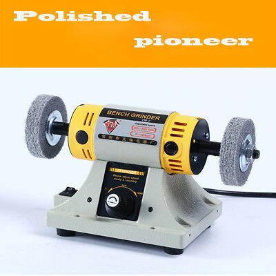 220V Rotary Polishing Machine Dental Jewelry Motor Lathe Bench Grinder Polisher