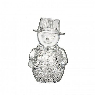 Waterford Crystal Snowman Sculpture Figurine New box only damaged # 40023138